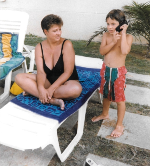 With Mom, San Juan, Alicante, 1999